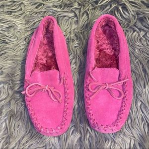 Kids LL Bean Pink Slippers Size 4
